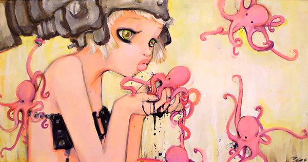 a-manga-painting-by-camilla-derrico-of-a-girl-kissing-an-octopus1