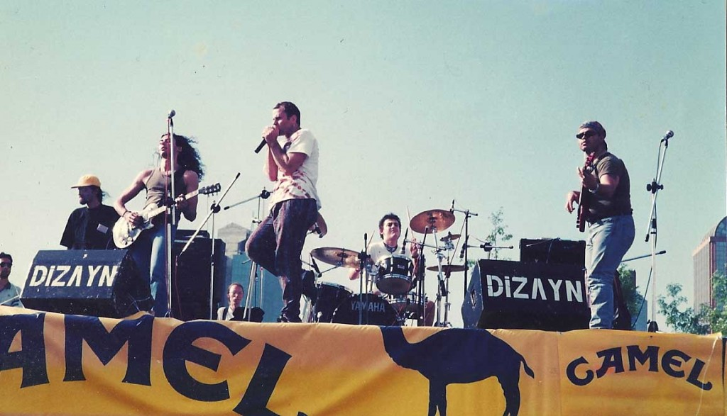 This was our set at Istanbul Teknik Üniversitesi. The Mövenpick (now Princess) Hotel Hotel was, at the time, the only tall building in Maslak.