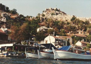 Kaleköy from sea level.