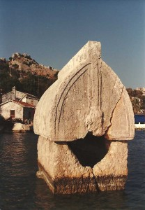 Flooded Lycian tomb