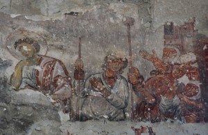 Fresco inside the church at Öşkvank, Çamlıyamaç.