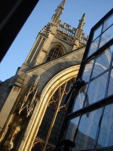 Merton College chapel from my window