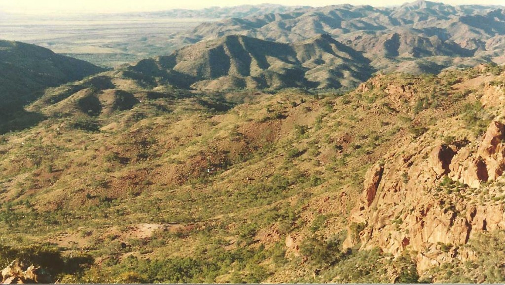 View down to Paralana from the escarpment