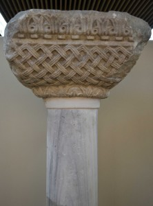 Column capital from the vicinity of the Church of St Mary Hodegetria. Archaeology Museum.