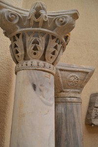 Columns and capitals from the Church of St John the Baptist
