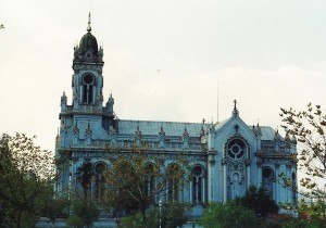 South side of the church, 1990
