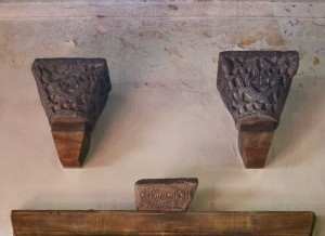 Two capitals from Imrohor Camii, now in the Church of the Holy Wisdom in Surrey. The official story is that Edwin Freshfiedl saw some Turks using the capitals for 'revolver practice'. When he protested, he was offered them for one pound. I don't believe a word of it.
