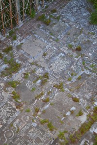 Mosaic floor from minaret