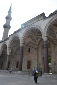 Columns in Süleymaniye, probably the ones from Peribleptos Monastery