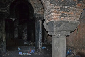 Columns and vaulting are well preserved