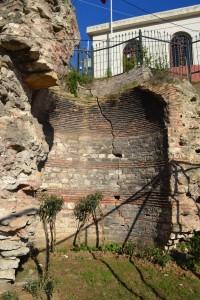 Byzantine vault in north-east corner of the Cistern of Aspar, probably substructure of a church
