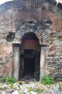 Doorway opening to the south