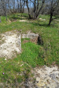 A grave on top of the limestone ridge